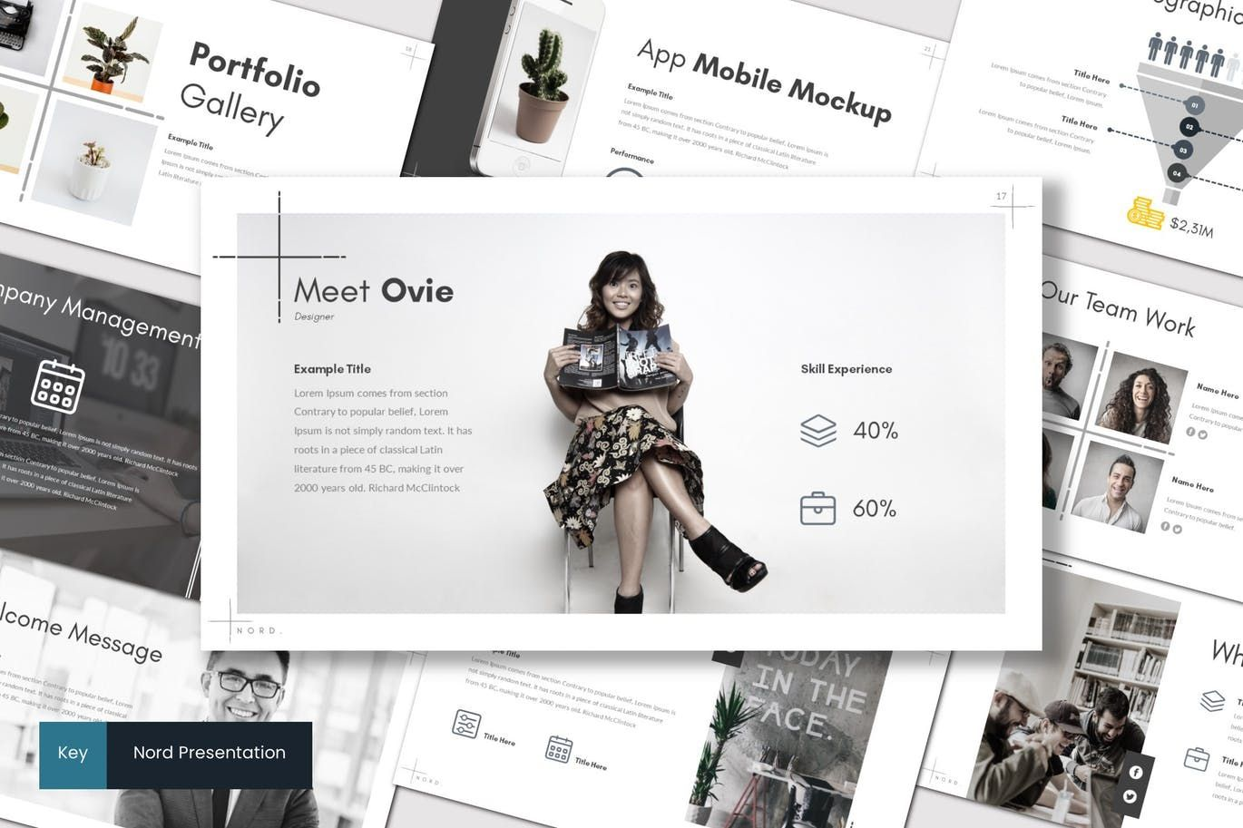Nord - Keynote Template, 07177, Presentation Templates — PoweredTemplate.com