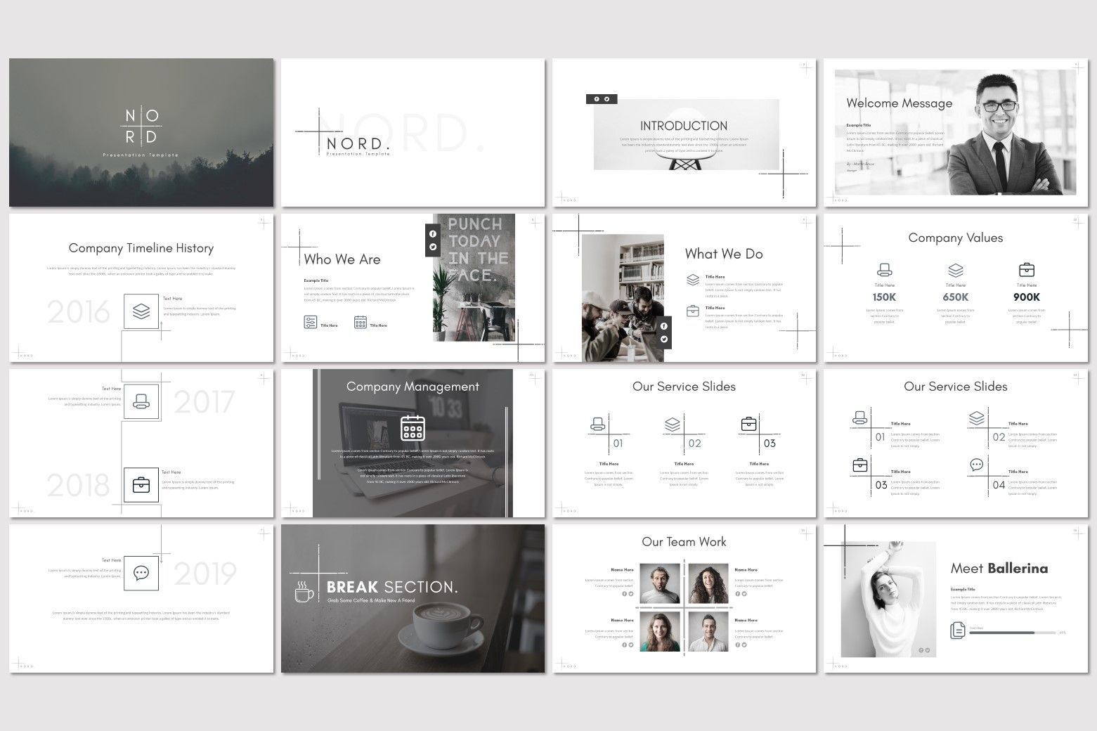 Nord - Keynote Template, Slide 2, 07177, Presentation Templates — PoweredTemplate.com