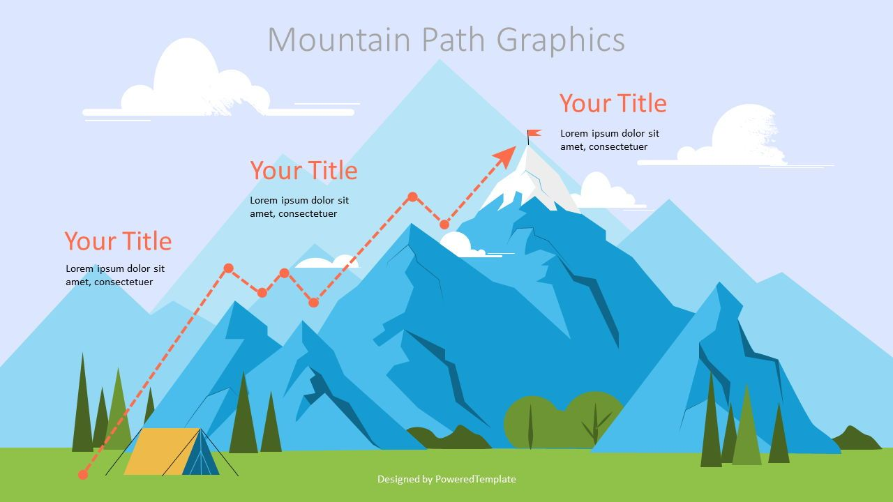 Route to the Top Graphics, 07178, Infographics — PoweredTemplate.com