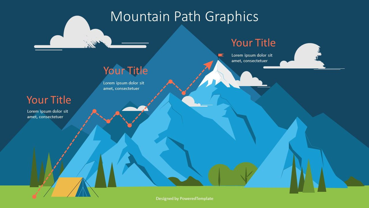 Route to the Top Graphics, Slide 2, 07178, Infographics — PoweredTemplate.com