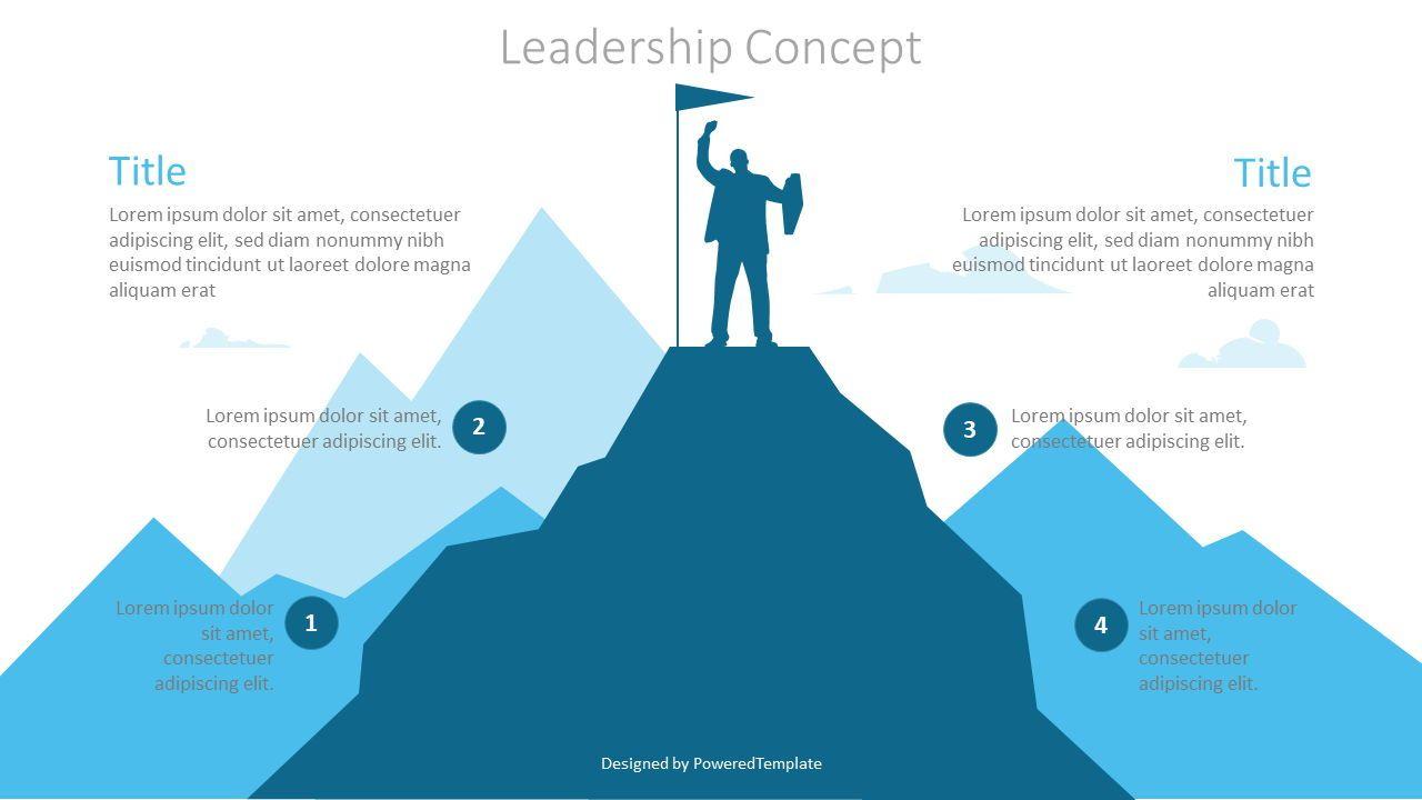 Leadership Concept Graphics, 07181, Infographics — PoweredTemplate.com