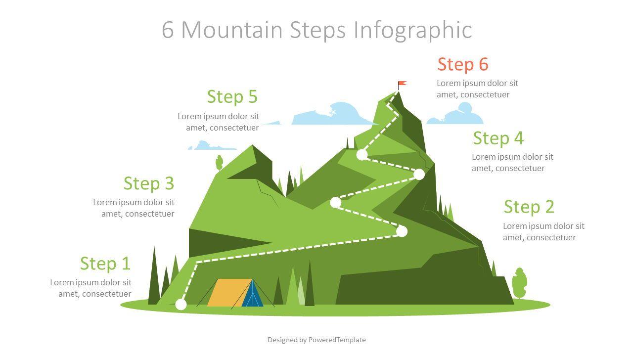 Six Mountain Steps Graphics, 07184, Infographics — PoweredTemplate.com