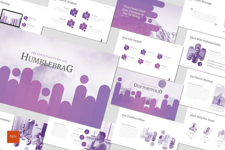 Humblebrag - PowerPoint Template, 07187, Presentation Templates — PoweredTemplate.com