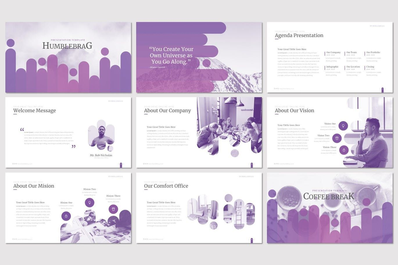Humblebrag - PowerPoint Template, Slide 2, 07187, Presentation Templates — PoweredTemplate.com