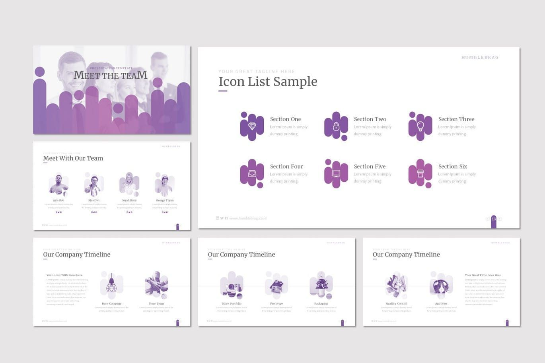 Humblebrag - PowerPoint Template, Slide 3, 07187, Presentation Templates — PoweredTemplate.com