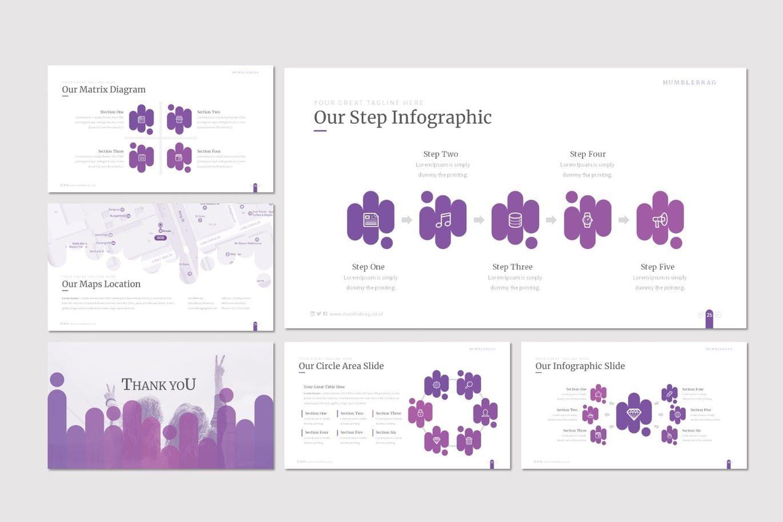 Humblebrag - PowerPoint Template, Slide 5, 07187, Presentation Templates — PoweredTemplate.com