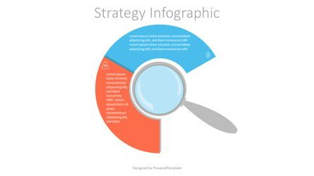 Infographics: Magnifying Glass with 2 Circular Options #07188