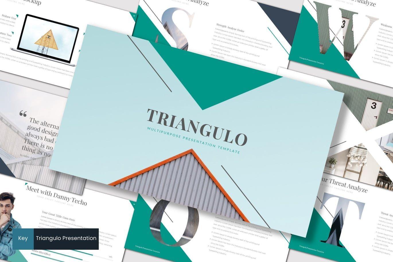 Triangulo - Keynote Template, 07192, Presentation Templates — PoweredTemplate.com
