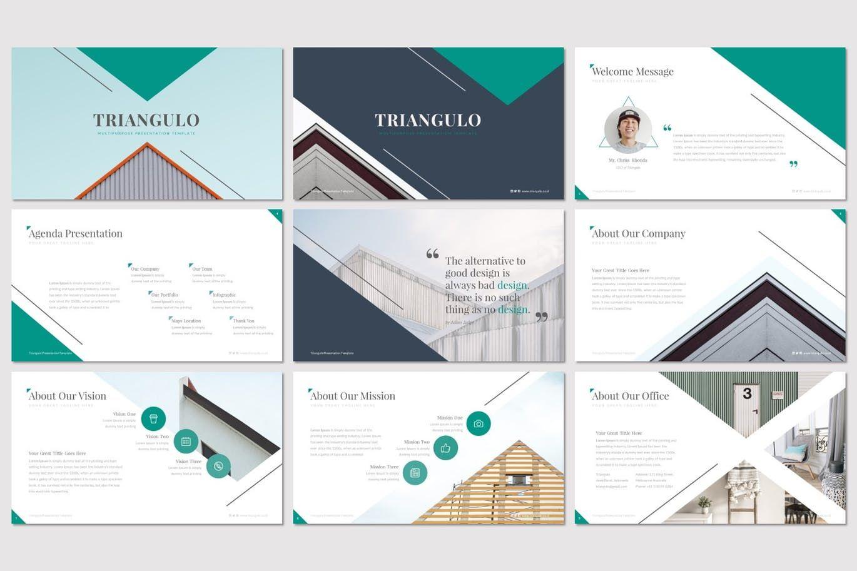 Triangulo - Keynote Template, Slide 2, 07192, Presentation Templates — PoweredTemplate.com