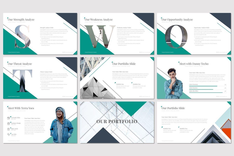 Triangulo - Keynote Template, Slide 4, 07192, Presentation Templates — PoweredTemplate.com