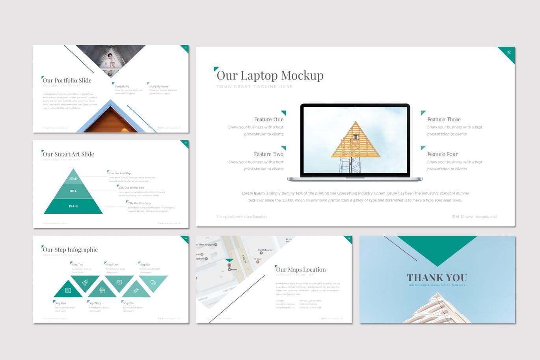 Triangulo - Keynote Template, Slide 5, 07192, Presentation Templates — PoweredTemplate.com