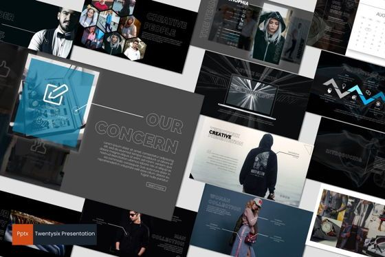 Presentation Templates: Twentysix - PowerPoint Template #07193