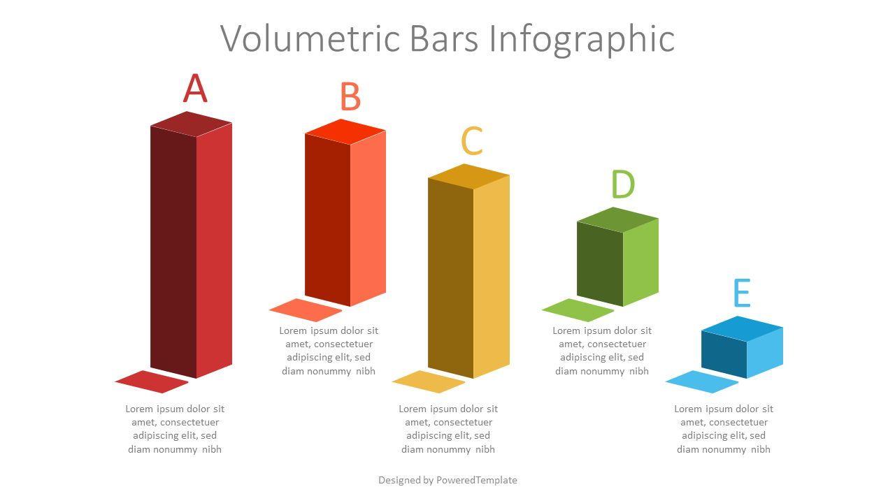 Volumetric Bars Infographic, 07195, Infographics — PoweredTemplate.com