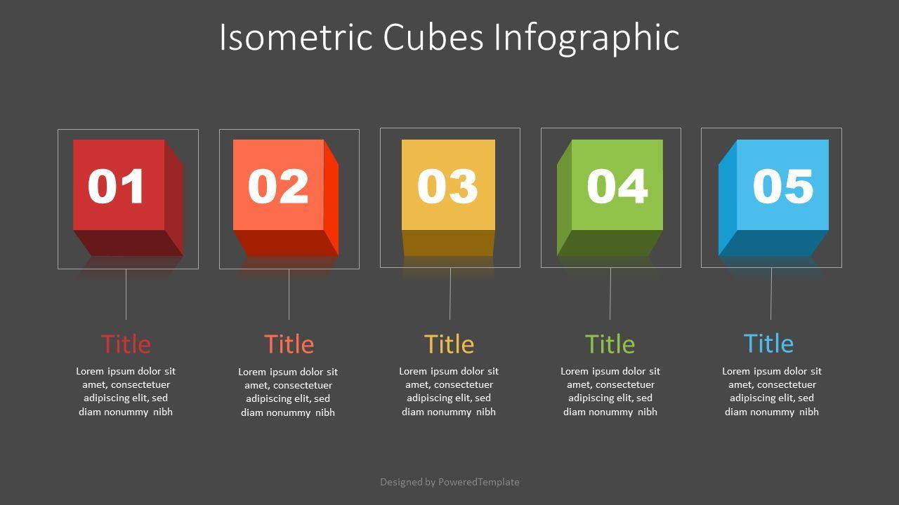 Isometric Cubes Infographic, 07196, Infographics — PoweredTemplate.com