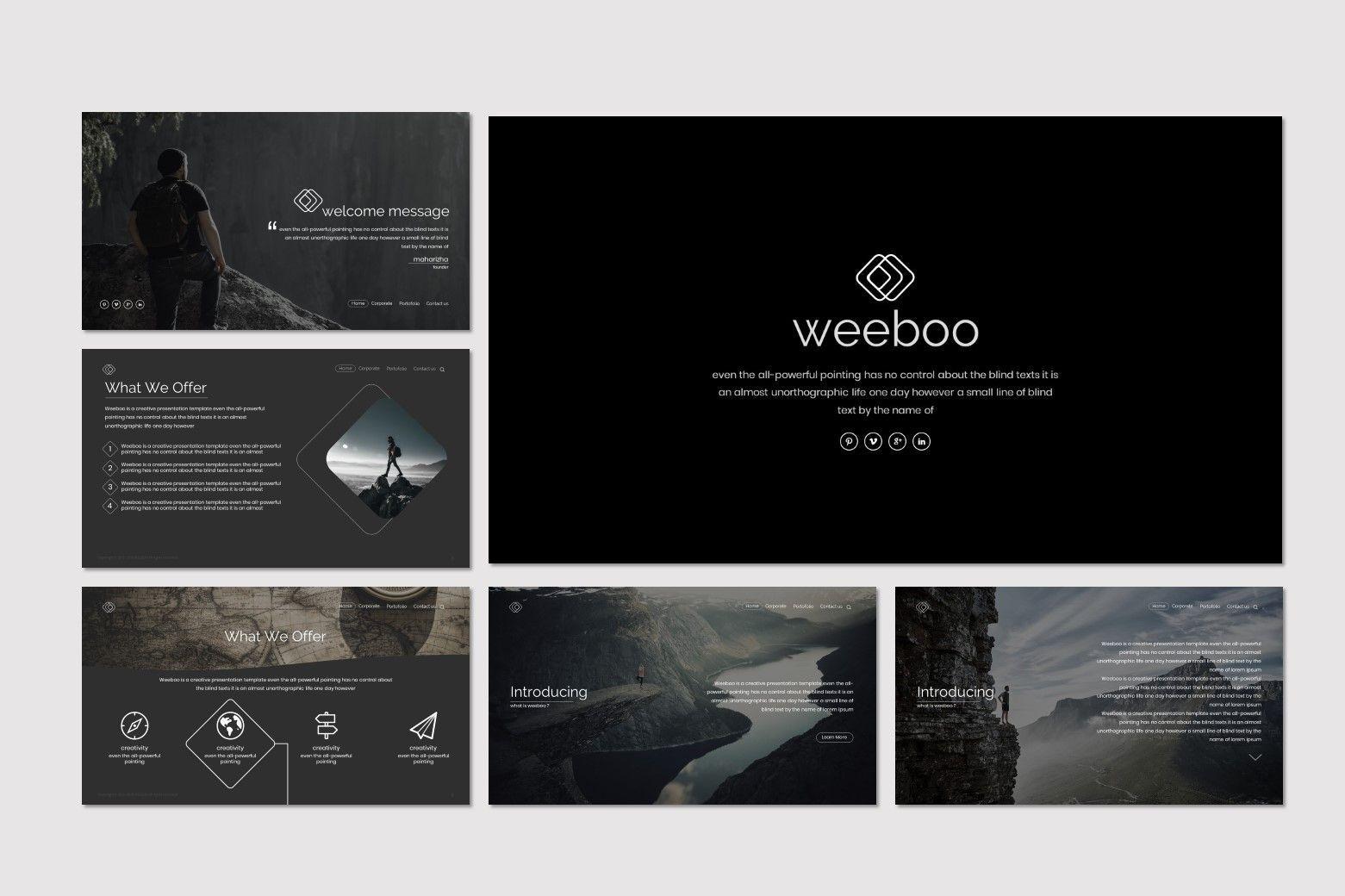 Weeboo - Google Slide Template, Slide 2, 07198, Presentation Templates — PoweredTemplate.com