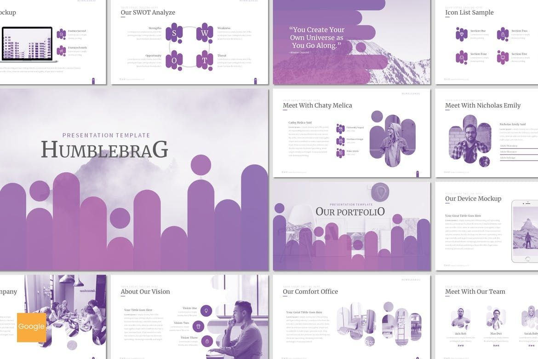 Humblebrag - Google Slides Template, 07203, Presentation Templates — PoweredTemplate.com