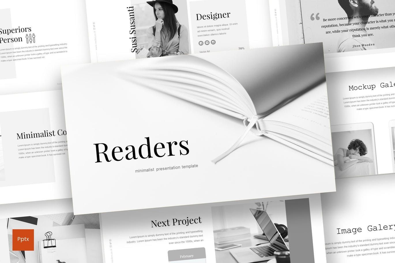 Readers - PowerPoint Template, 07204, Presentation Templates — PoweredTemplate.com