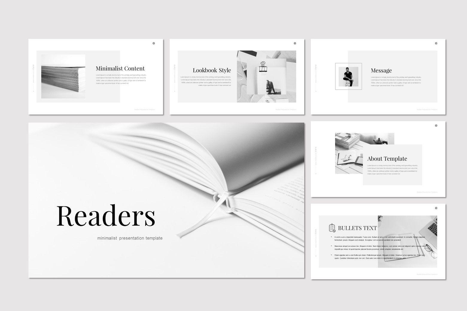 Readers - PowerPoint Template, Slide 2, 07204, Presentation Templates — PoweredTemplate.com