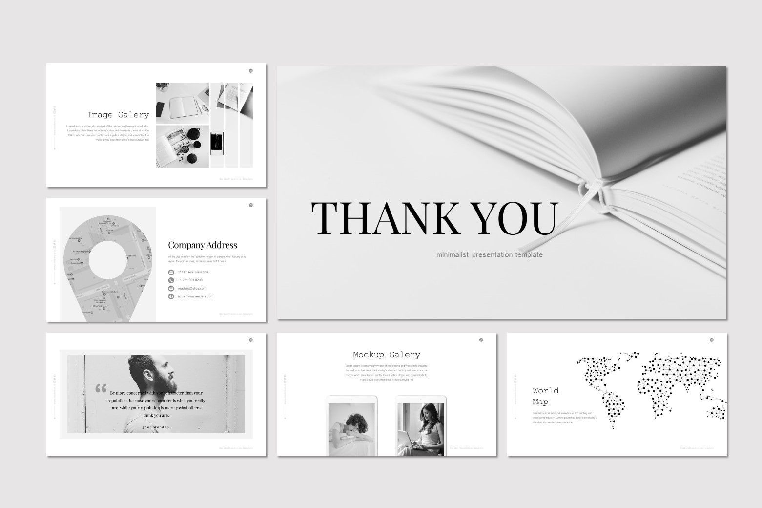 Readers - PowerPoint Template, Slide 5, 07204, Presentation Templates — PoweredTemplate.com