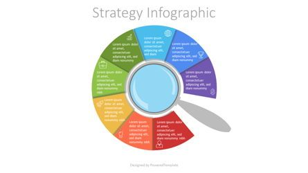 Infographics: Magnifying Glass with 8 Circular Options #07205