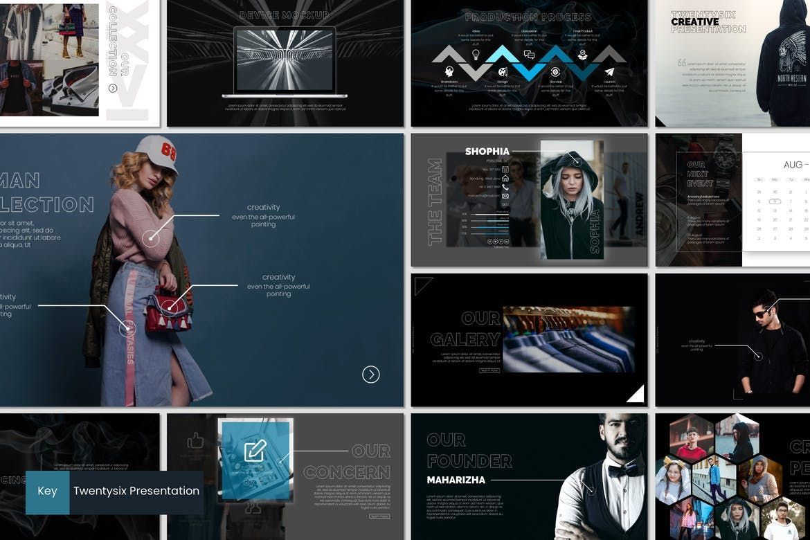 Twentysix - Keynote Template, 07206, Presentation Templates — PoweredTemplate.com