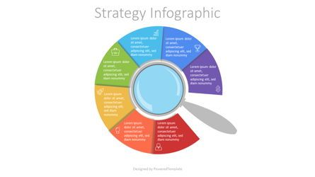 Infographics: Magnifying Glass with 7 Circular Options #07208
