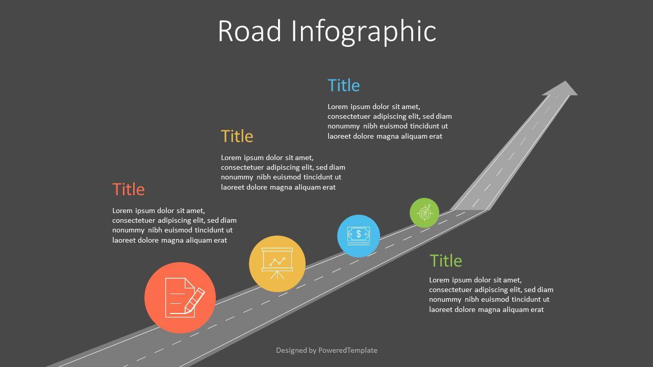 Upward Arrow Roadmap, 07209, Infographics — PoweredTemplate.com