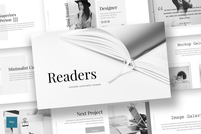 Readers - Keynote Template, 07213, Presentation Templates — PoweredTemplate.com