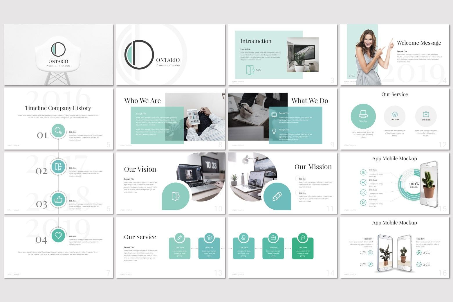 Ontario - PowerPoint Template, Slide 2, 07214, Presentation Templates — PoweredTemplate.com