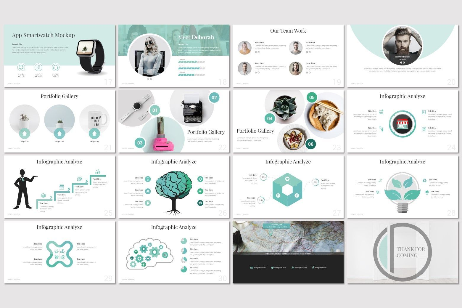 Ontario - PowerPoint Template, Slide 3, 07214, Presentation Templates — PoweredTemplate.com