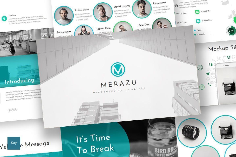 Merazu - Keynote Template, 07215, Presentation Templates — PoweredTemplate.com