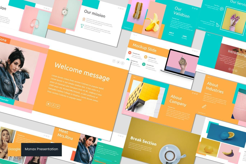 Monax - Google Slides Template, 07216, Presentation Templates — PoweredTemplate.com
