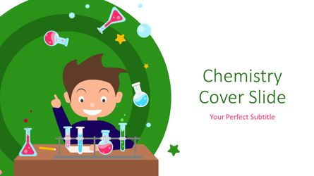 Education Charts and Diagrams: Chemistry Cover Slide #07220