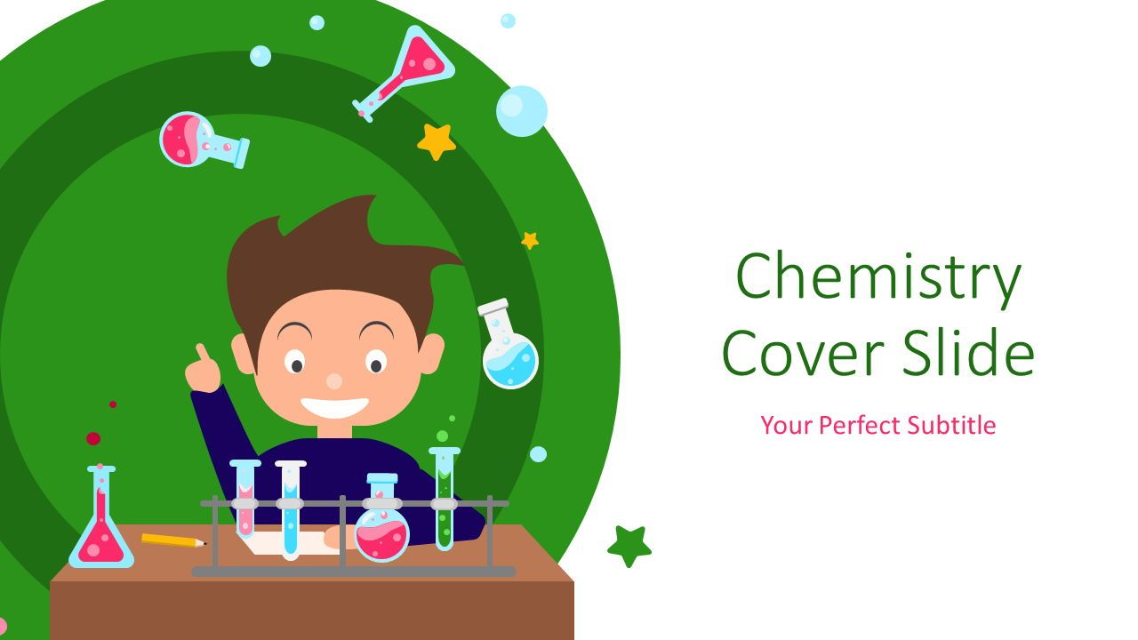 Chemistry Cover Slide, 07220, Education Charts and Diagrams — PoweredTemplate.com