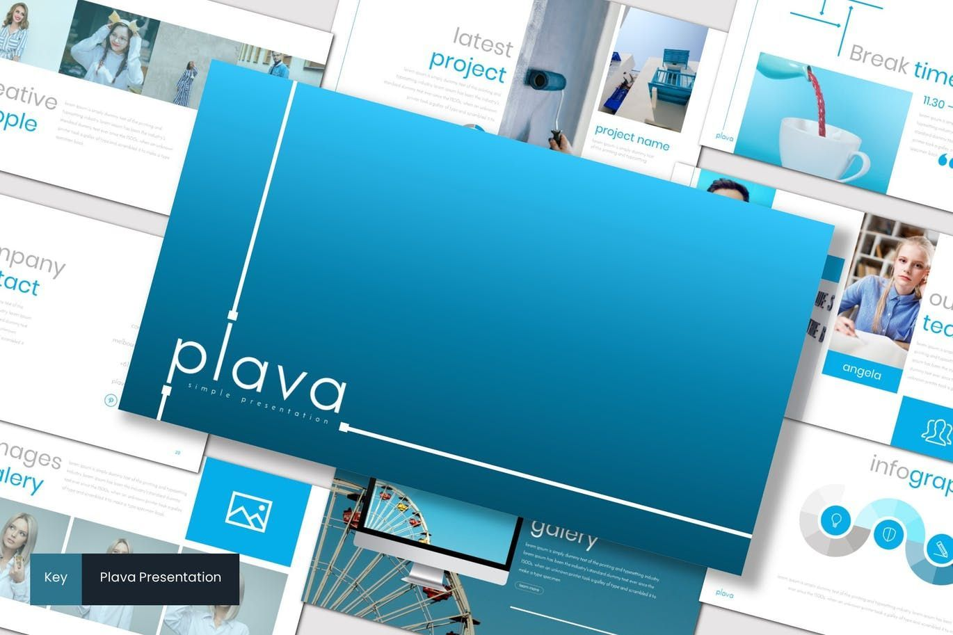 Plava - Keynote Template, 07221, Presentation Templates — PoweredTemplate.com