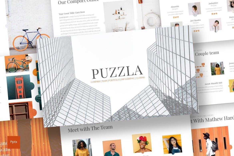 Puzzla - PowerPoint Template, 07223, Presentation Templates — PoweredTemplate.com