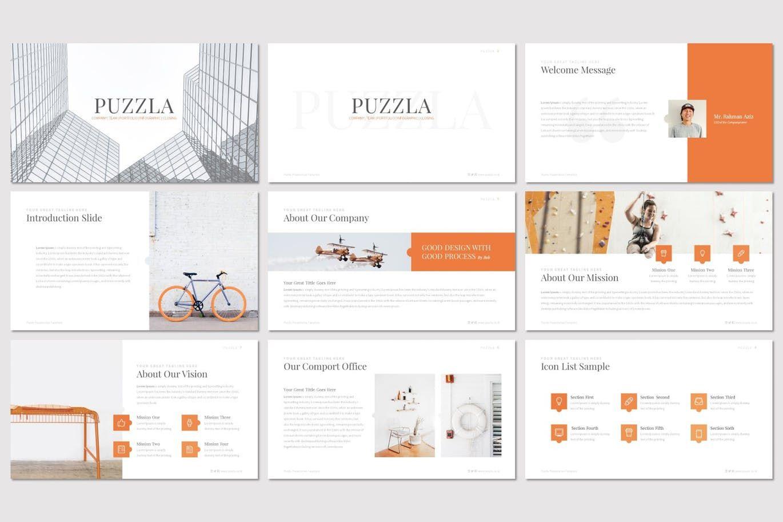 Puzzla - PowerPoint Template, Slide 2, 07223, Presentation Templates — PoweredTemplate.com