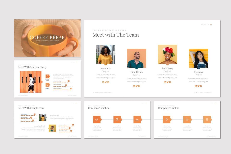 Puzzla - PowerPoint Template, Slide 3, 07223, Presentation Templates — PoweredTemplate.com