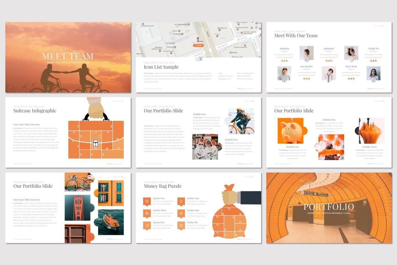 Puzzla - PowerPoint Template, Slide 4, 07223, Presentation Templates — PoweredTemplate.com