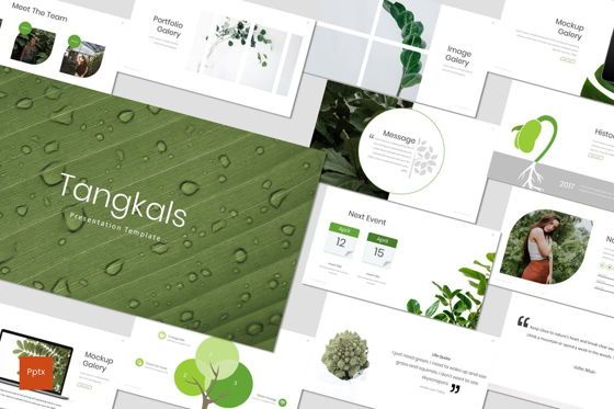 Presentation Templates: Tangkals - PowerPoint Template #07224