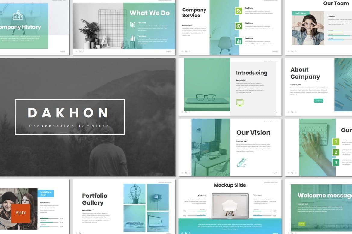 Dakhon - PowerPoint Template, 07227, Presentation Templates — PoweredTemplate.com