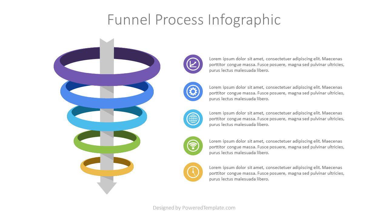 Funnel Process Infographic, 07230, Business Models — PoweredTemplate.com