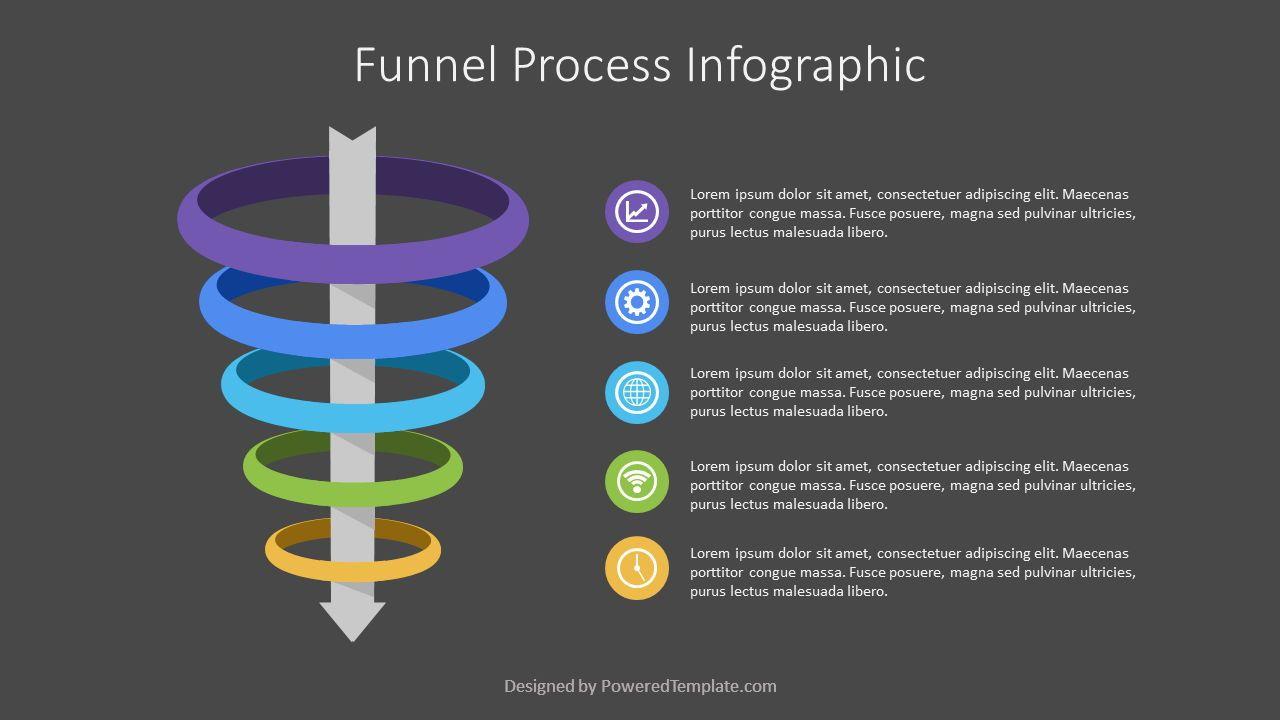 Funnel Process Infographic, Slide 2, 07230, Business Models — PoweredTemplate.com