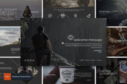 Presentation Templates: Weeboo - PowerPoint Template #07232