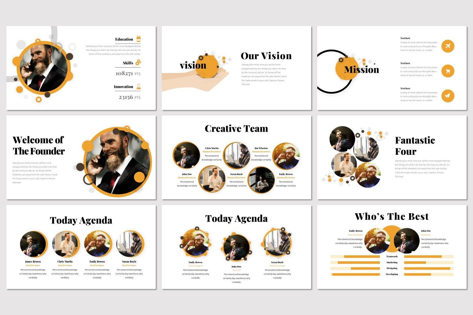 Gudmud - Google Slides Template, Slide 3, 07235, Presentation Templates — PoweredTemplate.com