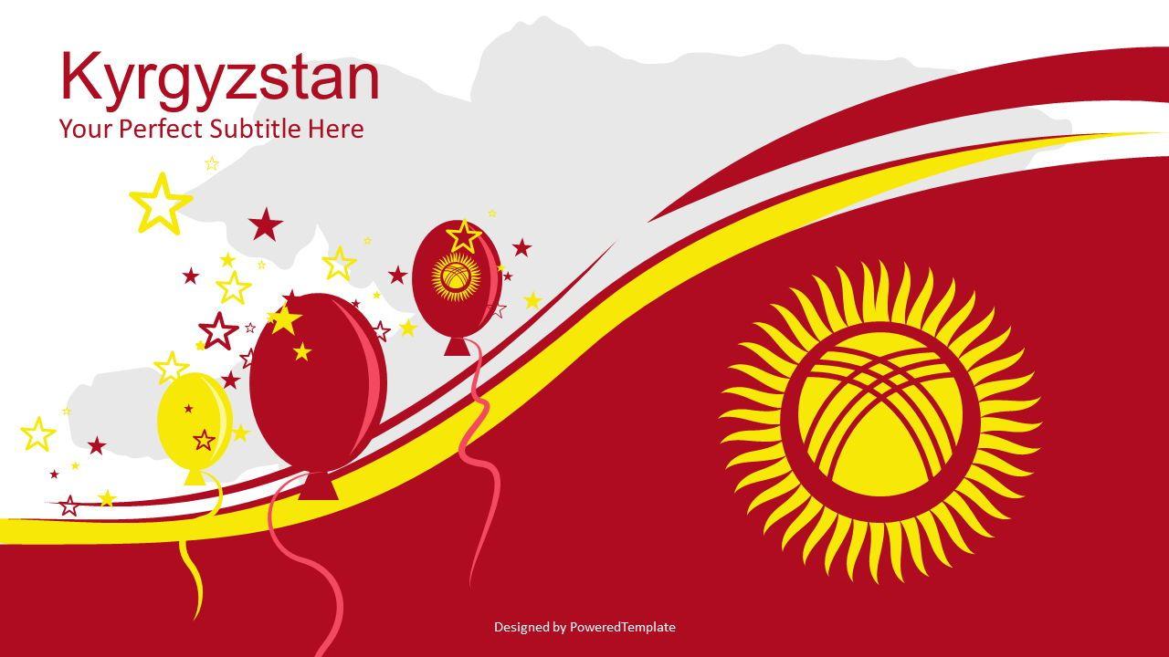 Kyrgyzstan Independence Day Cover Slide, 07236, Presentation Templates — PoweredTemplate.com