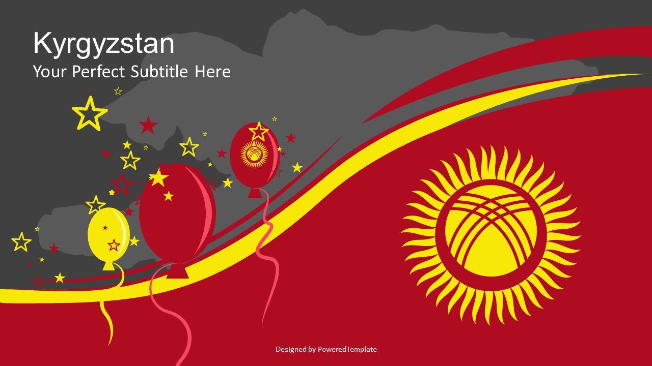Kyrgyzstan Independence Day Cover Slide, Slide 2, 07236, Presentation Templates — PoweredTemplate.com
