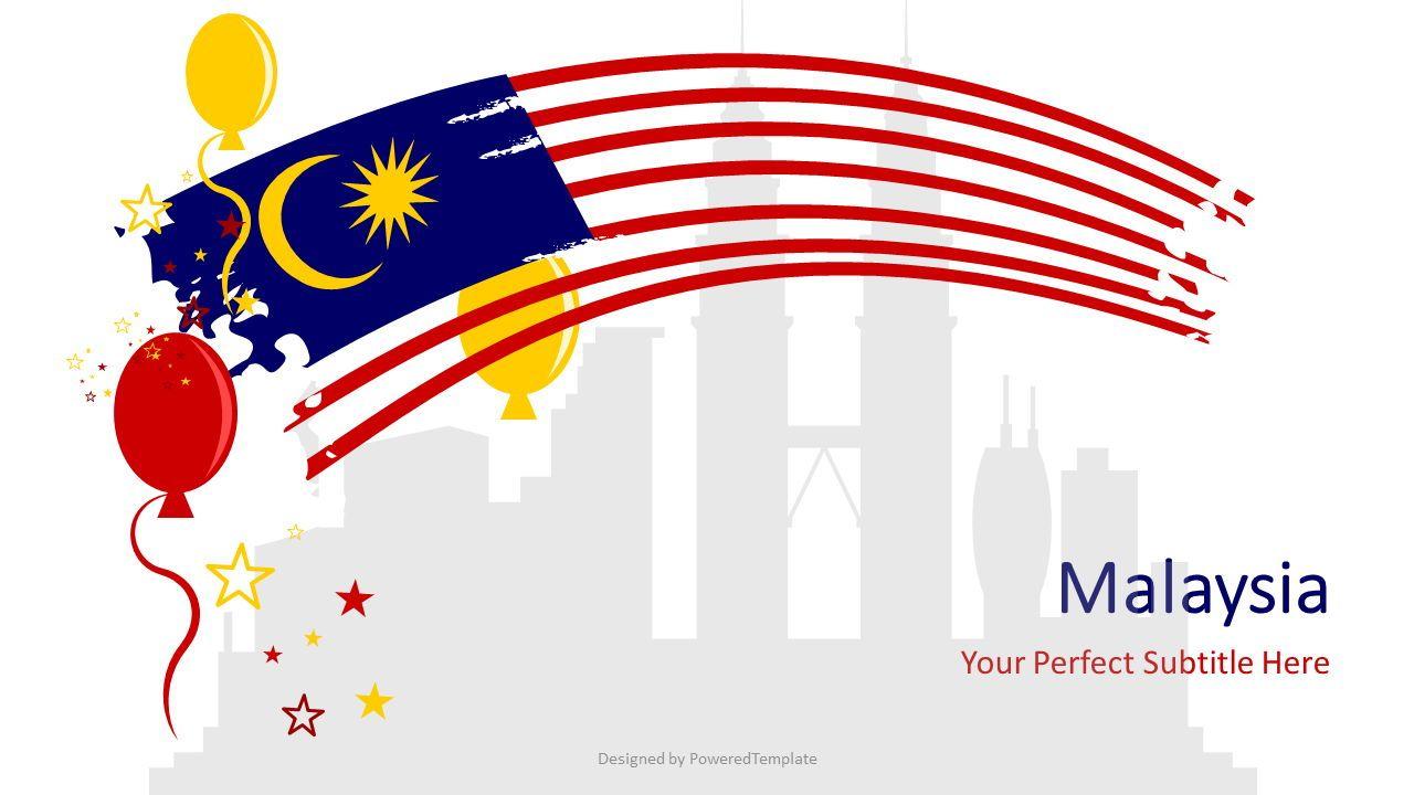 Festive Malaysia Cover Slide, 07239, Presentation Templates — PoweredTemplate.com