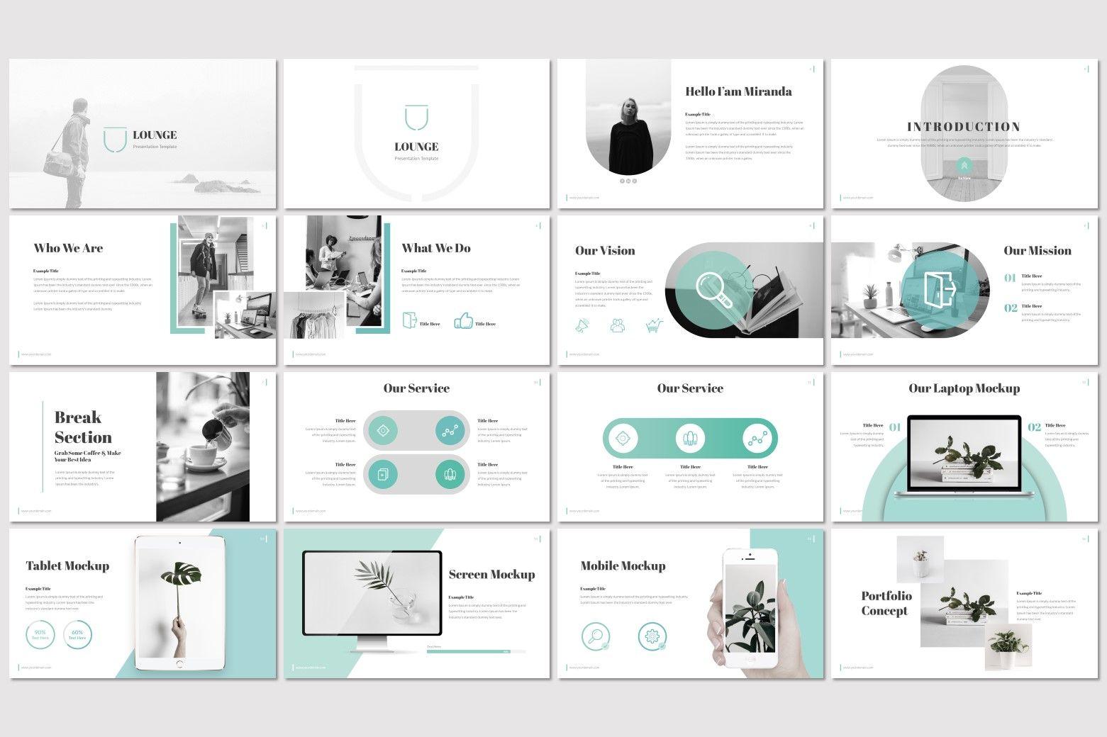 Lounge - PowerPoint Template, Slide 2, 07244, Presentation Templates — PoweredTemplate.com