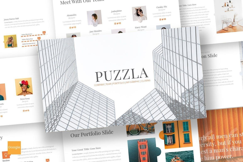 Puzzla - Google Slide Template, 07246, Presentation Templates — PoweredTemplate.com